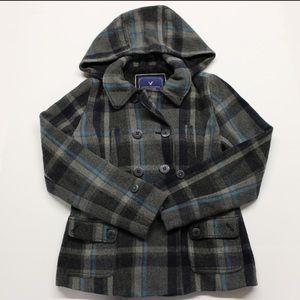 American eagle wool pea coat L